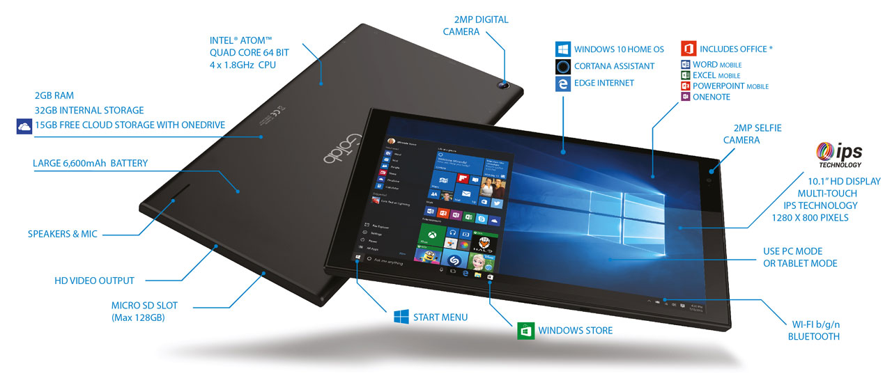 0''-GW10-GoTab-Windows-10-Home-Tablet-Business-Specification-Spec-Info