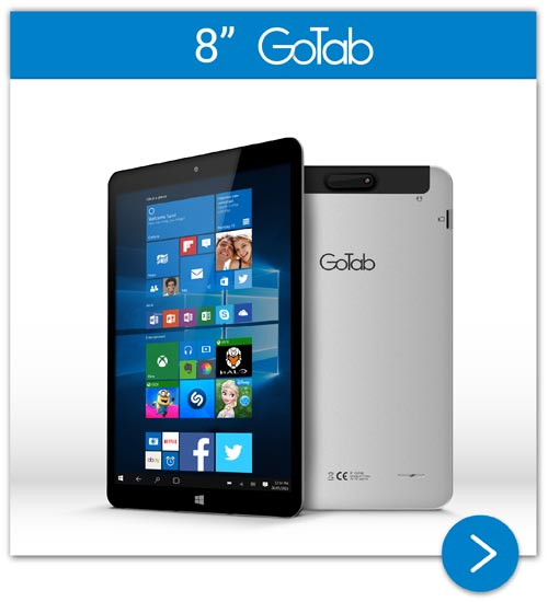 "8"" GoTab IPS Windows 10 Tablet"