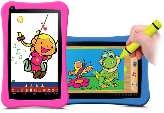 GoTab-Appi-best-Childrens-tablet-pink-girls-fingerpainting-paint-creating2
