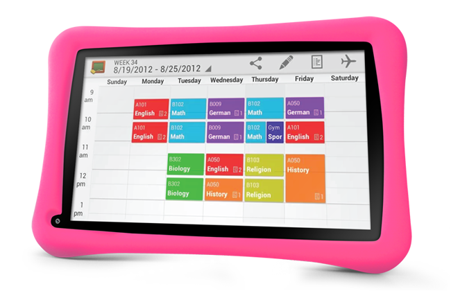 GoTab-Appi-best-Childrens-tablet-pink-girls-timetable-revision-exams-planner