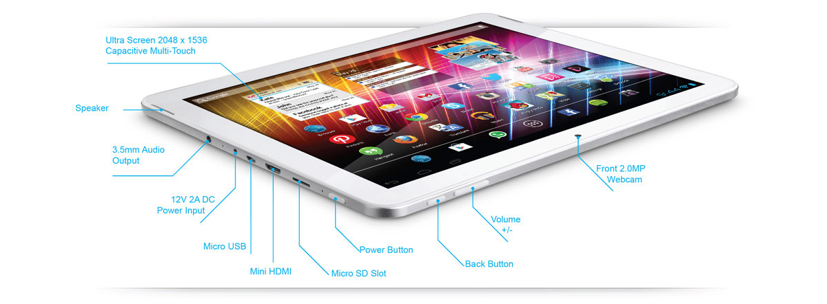 Gotab Quad Core Android Jelly Bean Tablet Retina Class