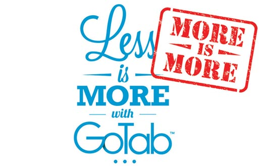 more is more with GoTab