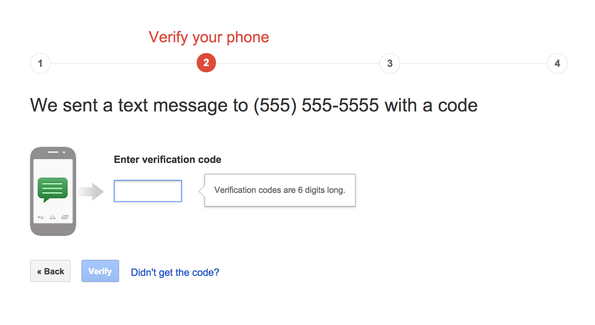 how to get verification code from other devices