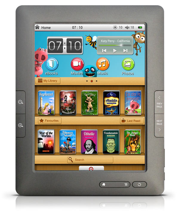 8 inch GoBook Imagine - Touchscreen Colour eBook Reader