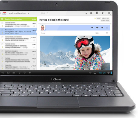 GoNote Netbook Touchscreen Gmail Screen