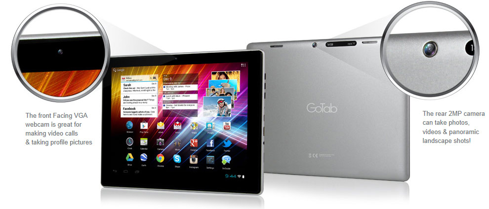 GoTab Epic GBT97 GoTab Epic V - Android 4 Capacitive Multitouch Tablet GBT97